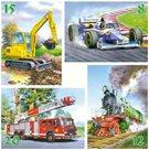 Puzzle - Klučičí svět sada 4 v 1  ( 8, 12, 15 a 20 dílků) velikost obrázku 32× 32 cm