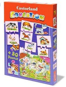 Puzzle vzdělávací - Zvířata (24+ 30 dílků)