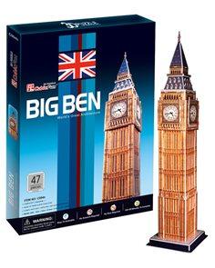 Puzzle 3D - prostorové - Big Ben (47 dílků)