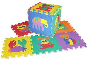 Pěnové puzzle - zvířata, 15×15 cm (36 ks)