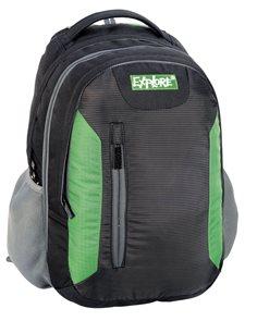Školní batoh EXPLORE - černozelený