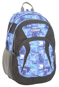 Školní batoh EXPLORE - Fading squares - modrý