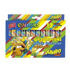 Voskovky Easy Jumbo Max- 12 barev