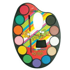 Vodové barvy Easy - malířská paleta - 12 barev
