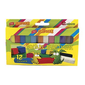 Plastelína Easy hranatá Model - 12 barev