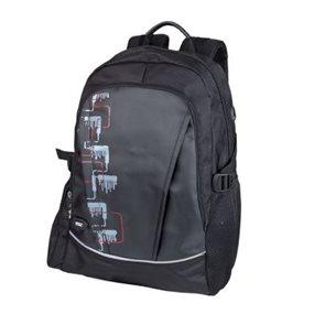 Školní batoh Easy - šedo- červeno-černý