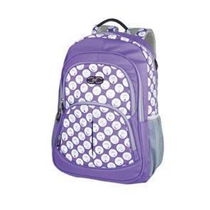 Sportovní batoh Easy - fialový se smajlíky