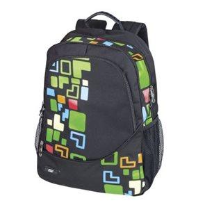 Sportovní batoh Easy - černý Tetris