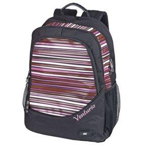 Sportovní batoh Easy - černý s růžovými pruhy