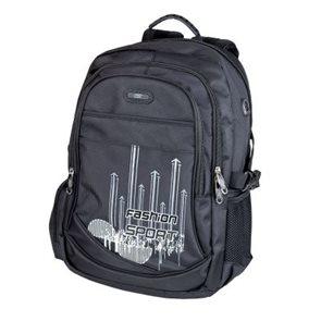Školní batoh Easy - černý Fashion Sport