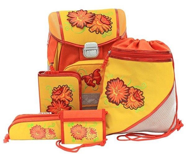Školní aktovka Hama - 5 dílný set - Květiny, Sleva 22%, Doprava zdarma