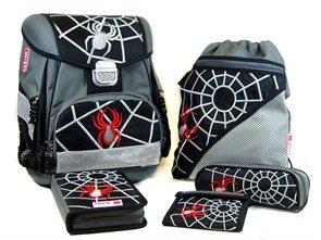 Školní aktovka Hama - 5 dílný set - Černý pavouk