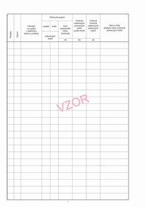 Evidenční list pokutových bloků-vložka - vzor č. 2