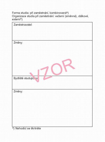 Studijní průkaz - pro studium při zaměstnání (laminové desky) světle modrý - sešit A6 40 str.
