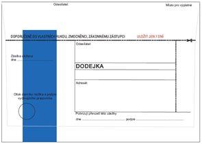 Obálka s dodejkou /modrá/ samopropis - pro rozesílání rozhodnutí o výsledku přijímacího řízení