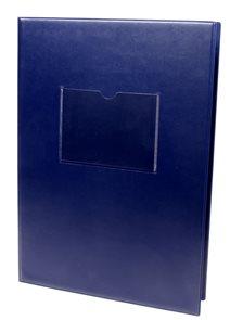 Desky na třídní knihy a výkazy s okénkem - modré