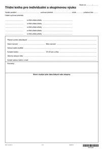 Třídní kniha pro individuální a skupinovou výuku ZUŠ - ŠVP - novinka 2013
