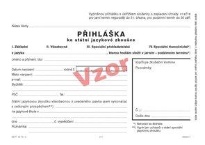 Přihláška ke státní jazykové zkoušce - samostatný formulář
