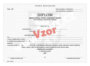 Diplom absolventa VOŠ