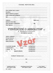 Vysvědčení o absolutoriu v konzervatoři bez zkoušky z cizího jazyka
