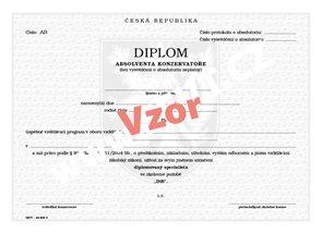Diplom absolventa konzervatoře