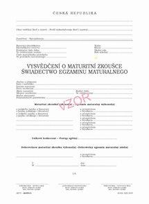 Vysvědčení o maturitní zkoušce pro SŠ - polské
