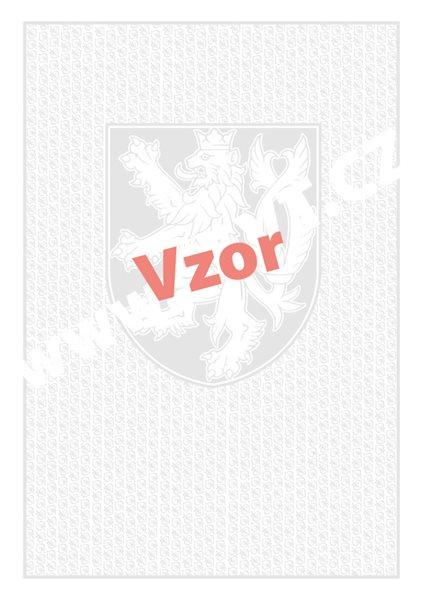 Bianco A4, malý státní znak+lipové listy - 210×297, oboustranný potisk