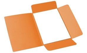 CAESAR OFFICE Odkládací mapa A4 tříklopá - oranžová