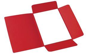 CAESAR OFFICE Odkládací mapa A4 tříklopá - červená