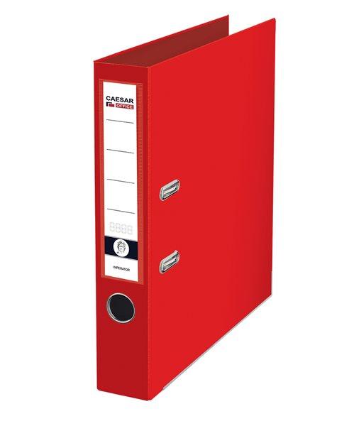 CAESAR OFFICE IMPERATOR Pořadač pákový A4 5 cm, lišty - červený