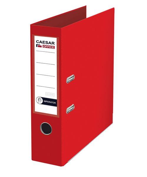 CAESAR OFFICE IMPERATOR Pořadač pákový A4 7,5 cm, lišty - červený