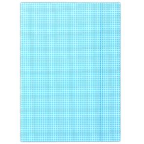 Donau Spisové desky s gumou A4 lepenka, kostkovaný vzor - modrá