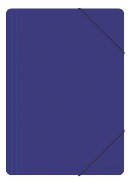 Spisové desky s gumou PP A4 3 klopy - modrá