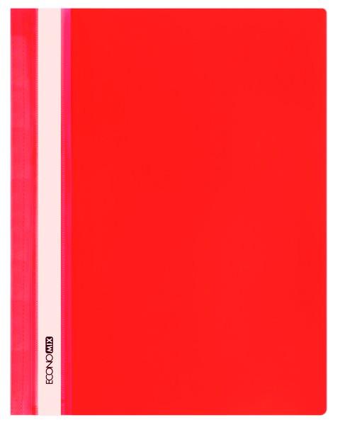 Rychlovazač ECONOMIX A4 plastový lesklý 1 ks - červený
