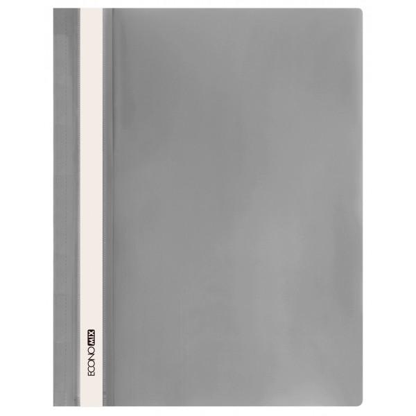 Rychlovazač ECONOMIX A4 plastový lesklý 1 ks - šedý