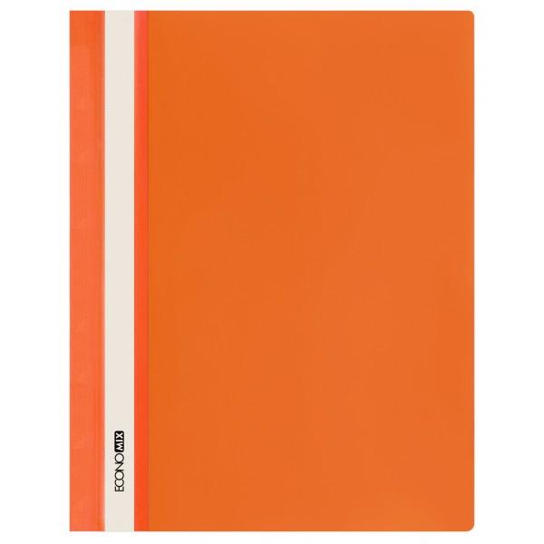 Rychlovazač ECONOMIX A4 plastový lesklý 1 ks - oranžový