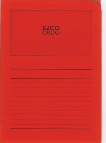 Zakládací složka ELCO Ordo s oknem a potiskem A4 1 ks - červená