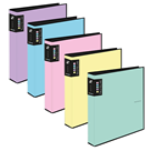 Karton PP PASTELINi Pořadač 4kroužek A4, R25, lamino - růžový