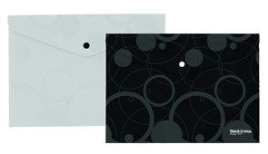 Karton Black & White Desky s drukem A4  - černé