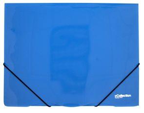 Karton PP E-collection Desky s gumou PP 3 klopy A4 - modré
