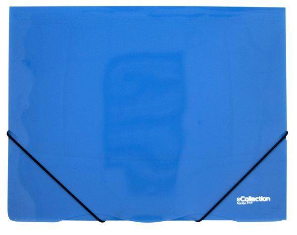 Karton PP eCollection Desky s gumou A4, PP, 3 klopy - modré