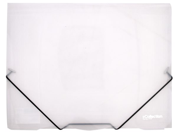 Karton PP eCollection Desky s gumou A4, PP, 3 klopy - bílé
