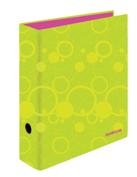 PP Pořadač pákový A4 7 cm Colori - zeleno/růžový