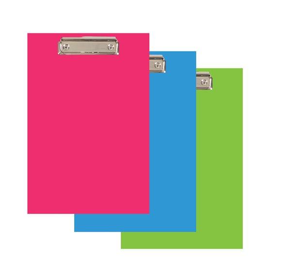 PP Psací podložka Color Office lamino A4 s klipem - růžová