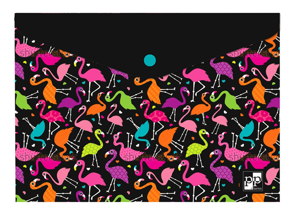 Karton PP Desky s drukem A4 - Flamingo