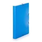 Krabice na spisy A4 3 klopy s gumou neprůhledný PP - modrá/azur