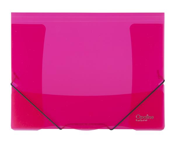 Karton PP Opaline Desky s gumou A4, PP, 3 klopy - červené