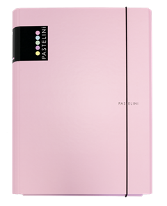 Karton PP PASTELINi Desky s gumou A4 3 klopy, lamino - růžová