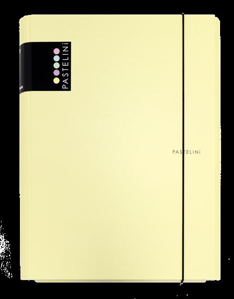 Karton PP PASTELINi Desky s gumou A4 3 klopy, lamino - žlutá