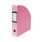 Karton PP PASTELINi Stojan na časopisy A4 PVC 7 cm - růžový